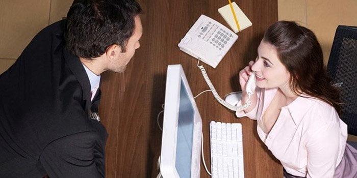 iş yerinde kızla tanışmak